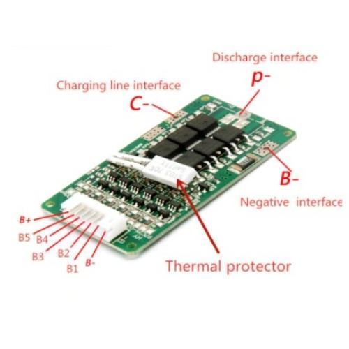 Elektronika 6S 21,6V LiitoKala 15A PCB BMS for 6 Pakk 18650