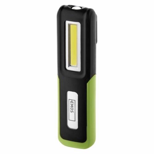 EMOS akkumulátoros LED lámpa 3W COB + 3W CREE LED