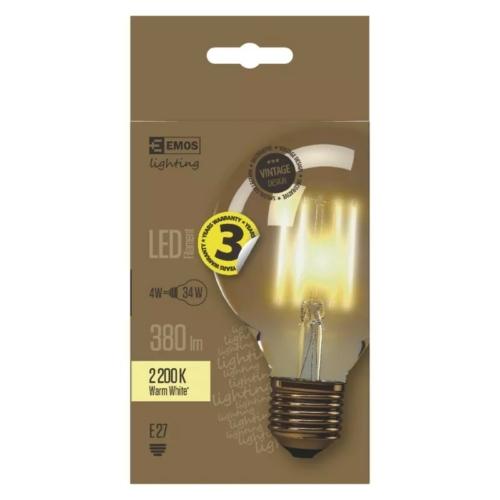EMOS LED izzó Vintage G95 E27 4W 2200K
