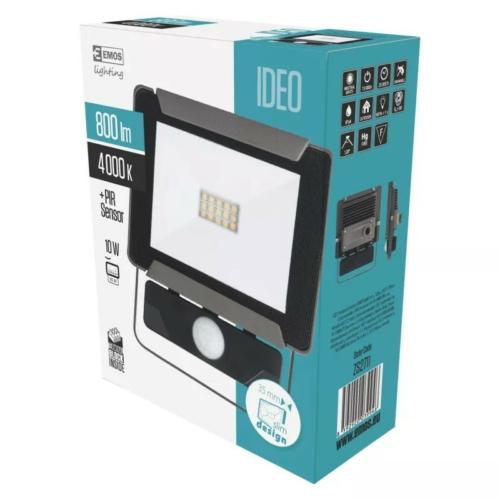 EMOS LED reflektor mozgásérzékelővel 10W IDEO