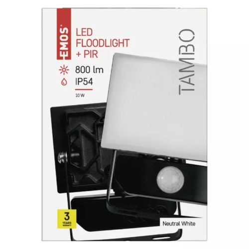 EMOS LED reflektor mozgásérzékelővel 10W TAMBO