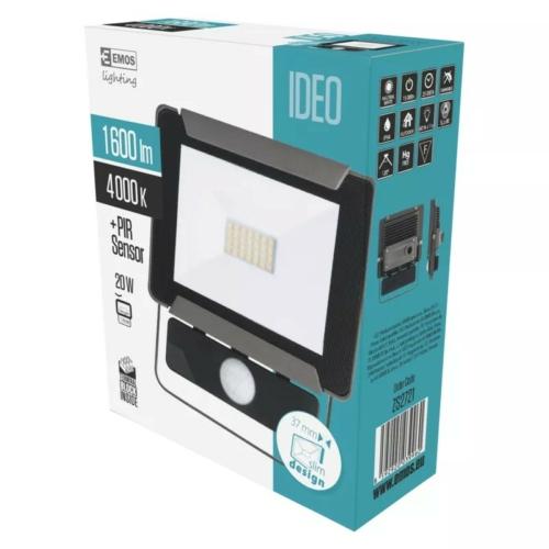 EMOS LED reflektor mozgásérzékelővel 20W IDEO