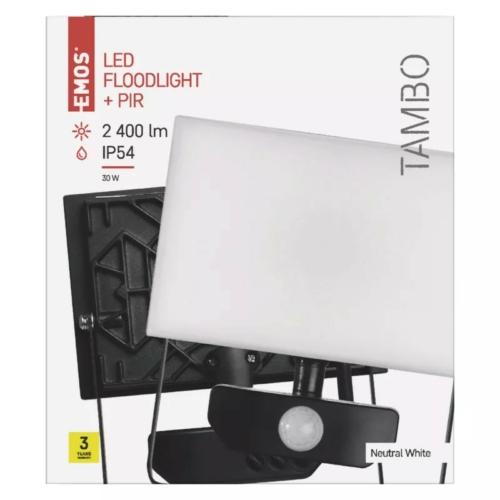 EMOS LED reflektor mozgásérzékelővel 30W TAMBO