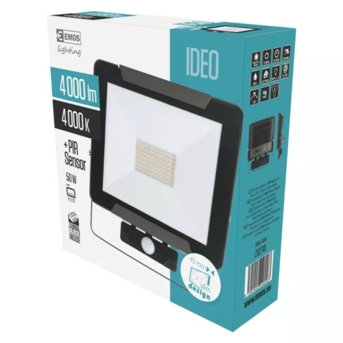 EMOS LED reflektor mozgásérzékelővel 50W IDEO