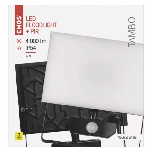 EMOS LED reflektor mozgásérzékelővel 50W TAMBO