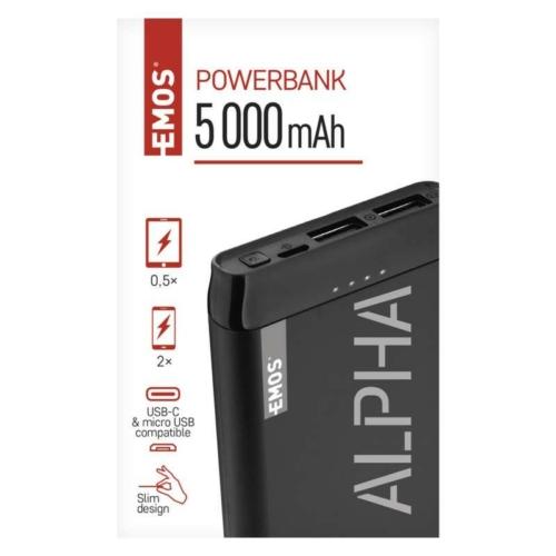 Emos PowerBank külső akkutöltő 5V 5000mAh