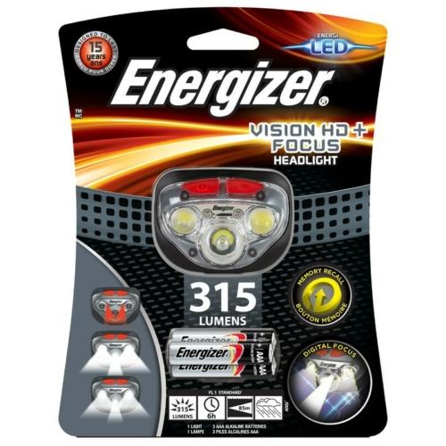 Energizer Vision HD fejlámpa 3*AAA