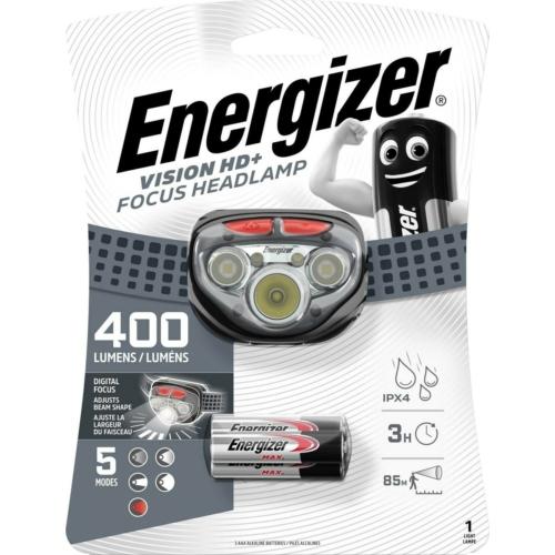 Energizer Vision HD Focus ledes fejlámpa 3xAAA 400LM