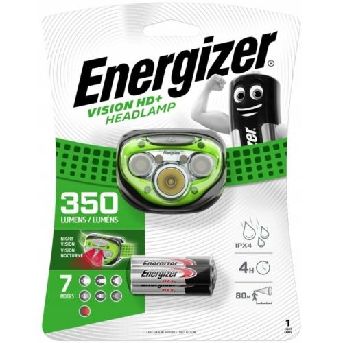 Energizer Vision HD+ ledes fejlámpa 3xAAA 350LM