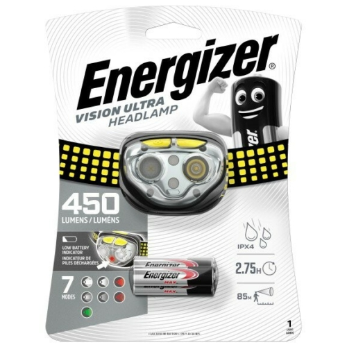 Energizer Vision Ultra HD ledes fejlámpa 3xAAA 450LM