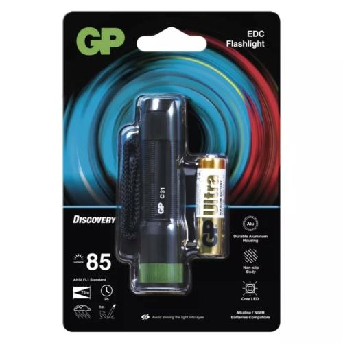 GP Discovery C31 ledes lámpa + 1db 15AU AA elem