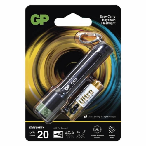 GP Discovery CK12 ledes kulcstartós lámpa + 1db 24AU AAA elem
