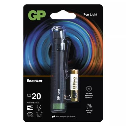GP Discovery CP21 LED Lámpa + 1db 24AU AAA elem