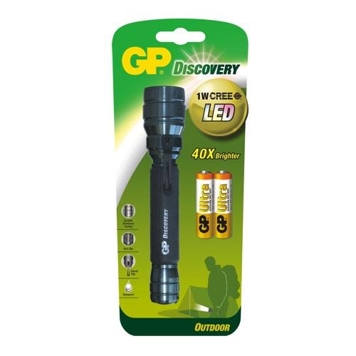 GP Discovery LOE102 cree ledes lámpa + 2db 15AU AA elem