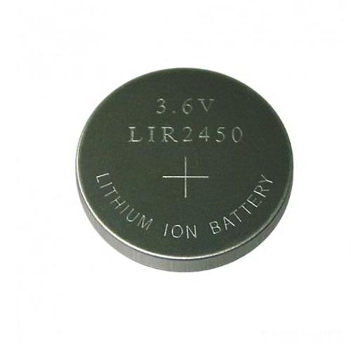 LIR2450 3,6V Li-Ion 120mAh gomb akkumulátor 24,5*5mm