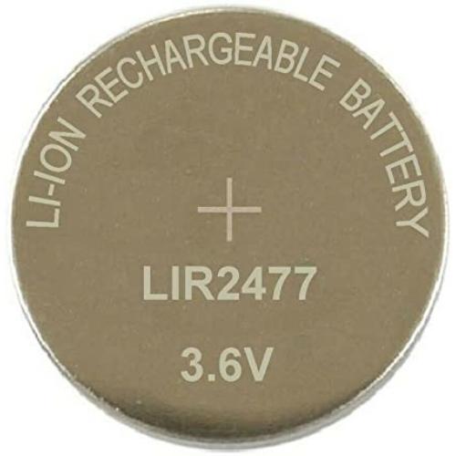 LIR2477 3,6V 180mAh lítium gomb akkumulátor