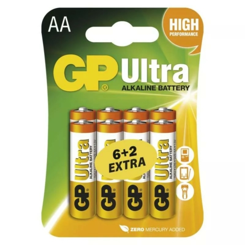 LR6 GP15AU-C6+2 Ultra ceruza elem bliszteres