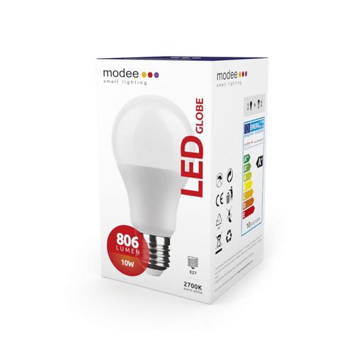 Modee LED izzó gömb A60 10W E27 foglalat 2700K