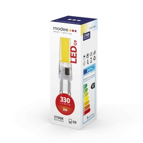 Modee LED izzó 3W G9 foglalat COB leddel 2700K (330 lumen)