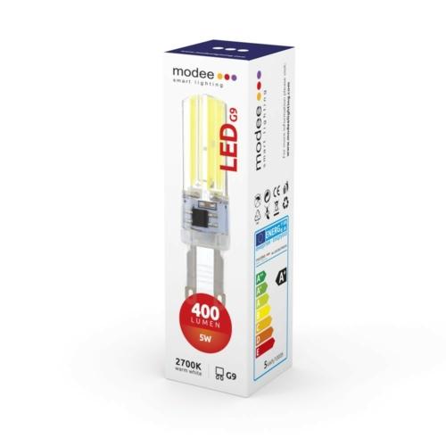 Modee LED izzó 5W G9 foglalat COB leddel 2700K (400 lumen)