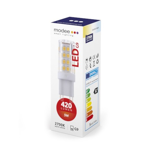 Modee LED izzó 5W G9 kerámia foglalat AC 220-240V 2700K