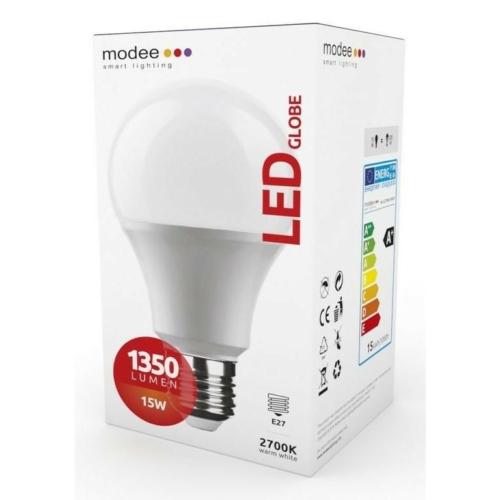 Modee LED izzó gömb A65 15W E27 foglalat 2700K