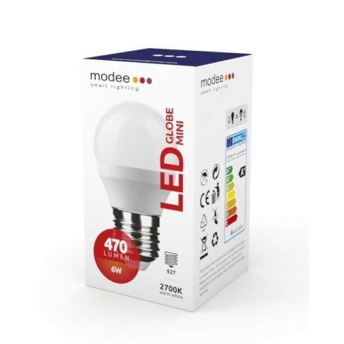 Modee LED izzó mini gömb G45 6W E27 foglalat 2700K