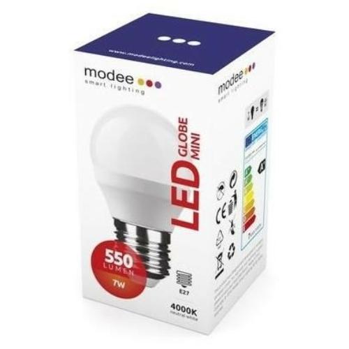 Modee LED izzó mini gömb G45 7W E27 foglalat 4000K