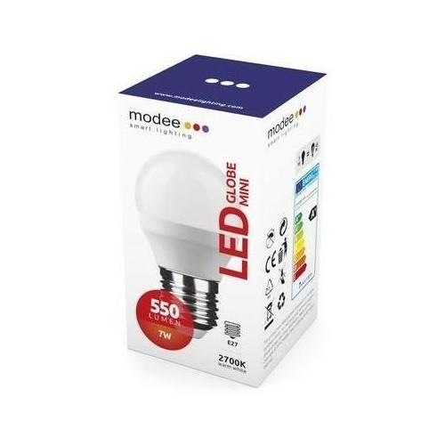 Modee LED izzó mini gömb G45 7W E27 foglalat 2700K