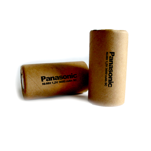 SC 300SCH Panasonic akku 3000mAh Ni-Mh 23*43mm HD