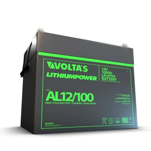 Voltas 12,8V 100Ah LiFePO4 lítium-vasfoszfát akkumulátor 260*168*211