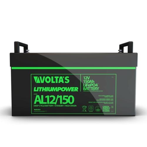 Voltas 12,8V 150Ah LiFePO4 lítium-vasfoszfát akkumulátor 480*170*240