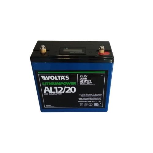 Voltas 12,8V 20Ah LiFePO4 lítium vasfoszfát akkumulátor 181*77*167 digit.