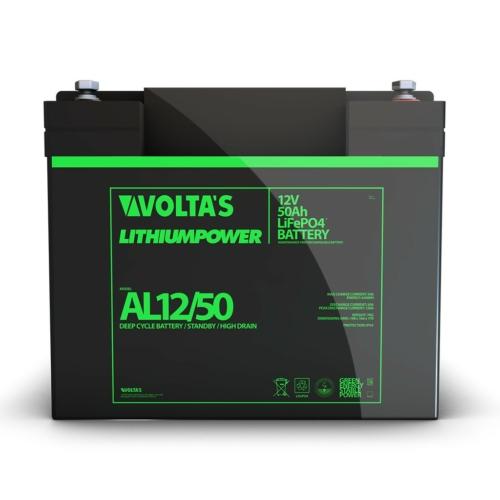 Voltas 12,8V 50Ah LiFePO4 lítium vasfoszfát zárt akkumulátor 194*164*170