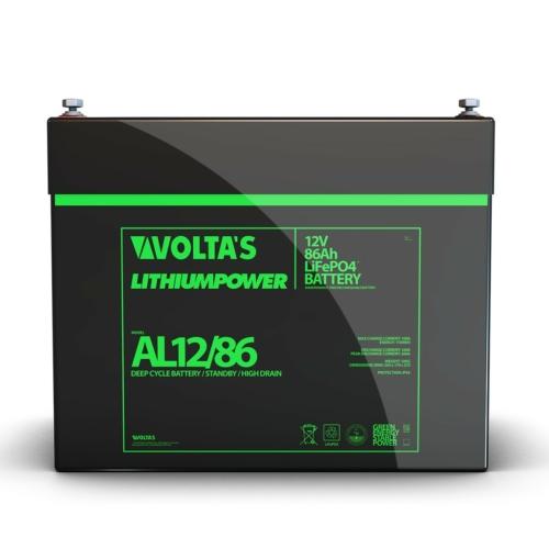 Voltas 12,8V 86Ah LiFePO4 lítium vasfoszfát akkumulátor 260*168*211