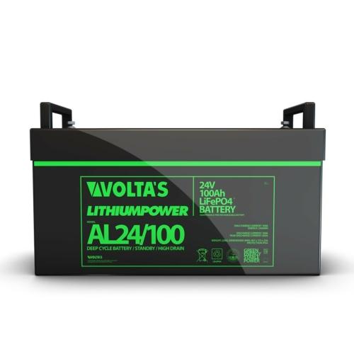 Voltas 25,6V 100Ah LiFePO4 lítium vasfoszfát zárt akkumulátor digit. 522*215*240