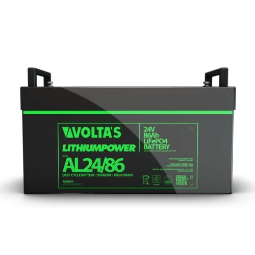 Voltas 25,6V 86Ah LiFePO4 lítium vasfoszfát zárt akkumulátor 407*175*228