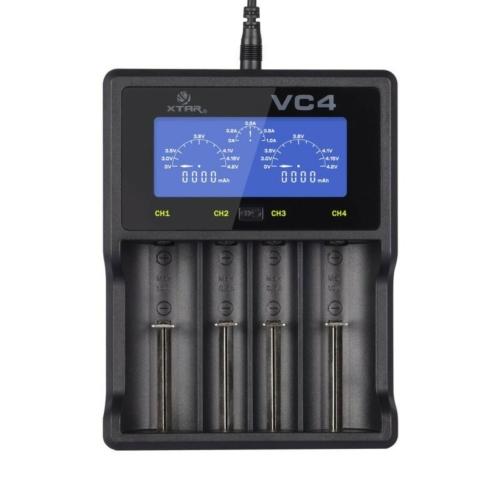 XTAR VC4 Li-ion/Ni-Mh/Ni-Cd töltő USB kábellel