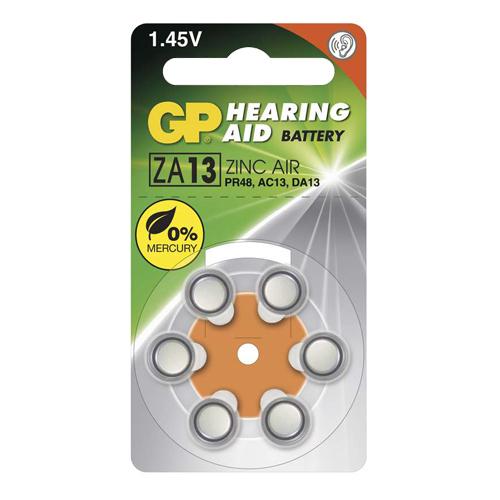 ZA13 / PR48 GP Cink-levegő hallókészülék elem 230mAh 7,9*5,4mm
